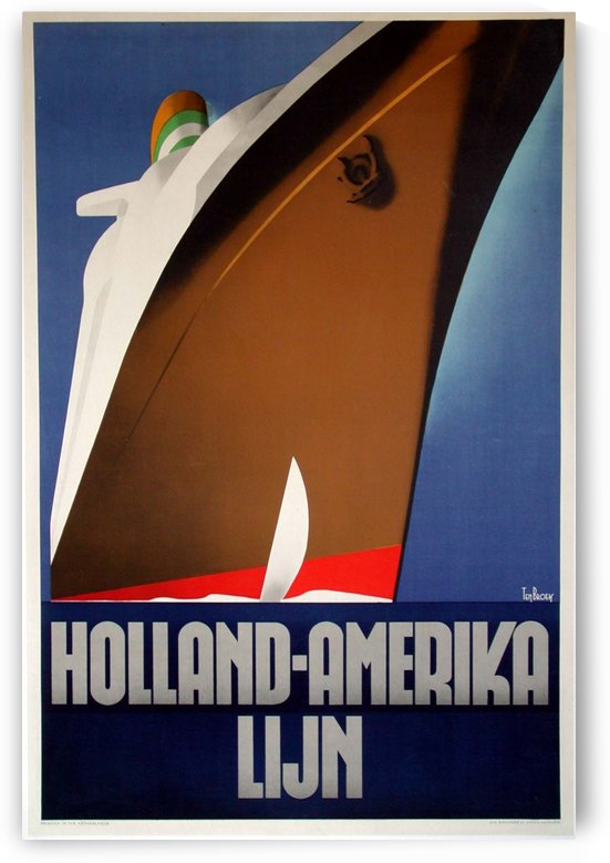 Holland-Amerika Lijn Original Poster by Willem ten Broek by VINTAGE POSTER