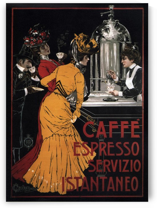 Caffe Espresso Servizio Istantaneo by VINTAGE POSTER