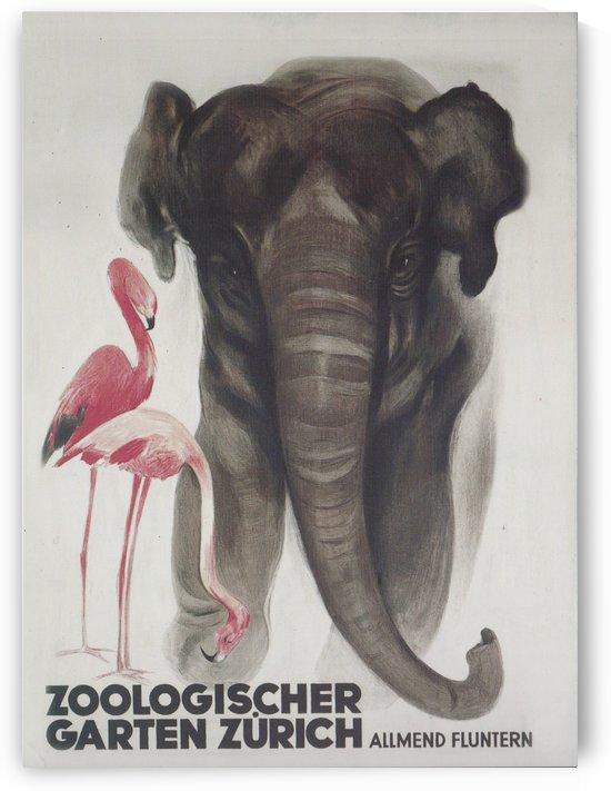 Zoologischer Garten Zurich Otto Baumberger, 1929 by VINTAGE POSTER