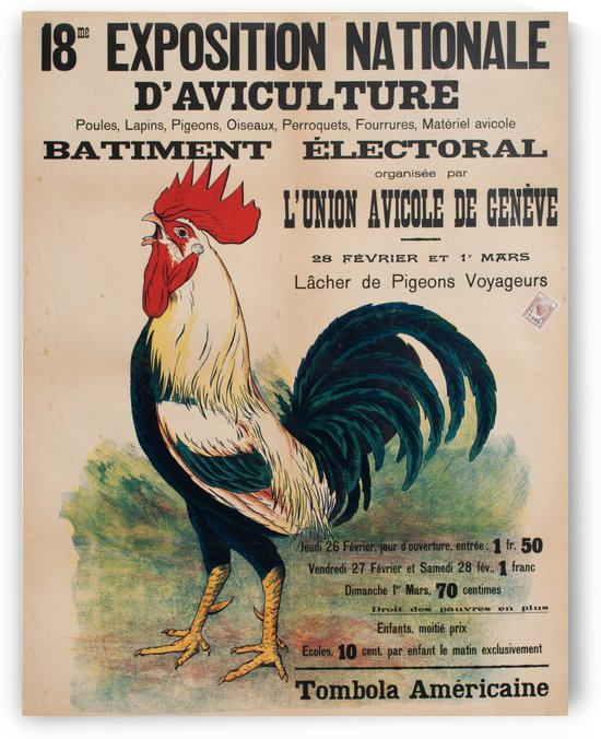 Exposition daviculture, Geneve, 1925 by VINTAGE POSTER