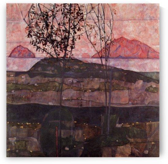 Underground Sun by Egon Schiele by Egon Schiele