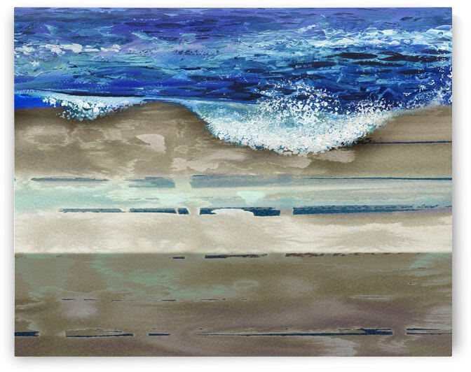 Wave On The Beach Beautiful Seascape Vacation by Irina Sztukowski
