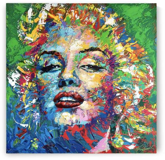 Marilyn06 abstract portrait by Tadaomi Kawasaki