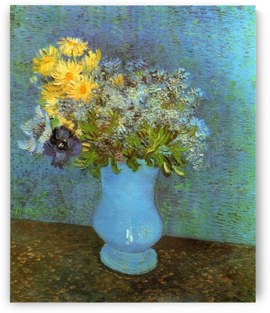 Vase with Lilacs Daisies and Anemones by Van Gogh by Van Gogh