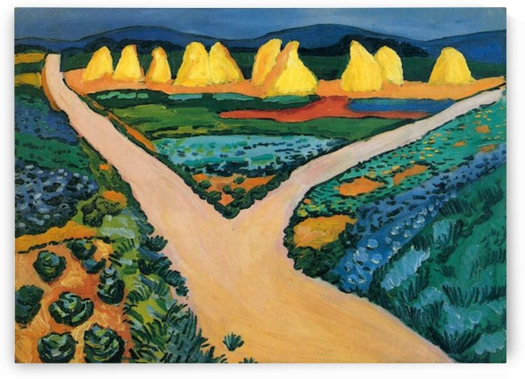 Vegetable Fields by Macke by Macke