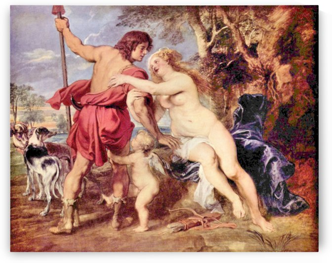 Venus and Adonis by Rubens by Rubens