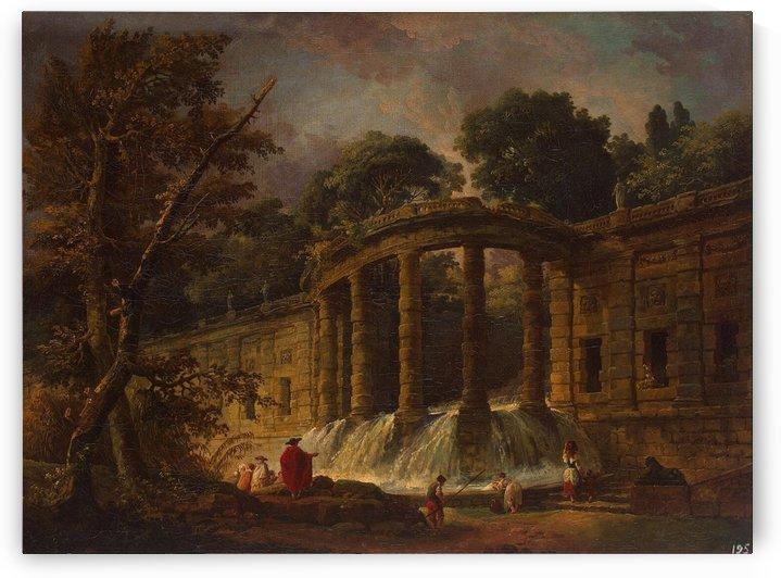 Pavilion with a Cascade by Hubert Robert
