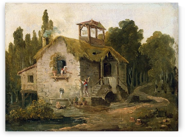 Cottage in the Forest by Hubert Robert