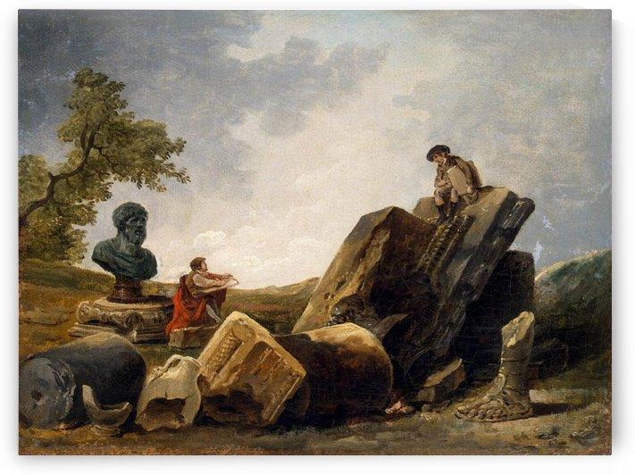 Painters by Hubert Robert
