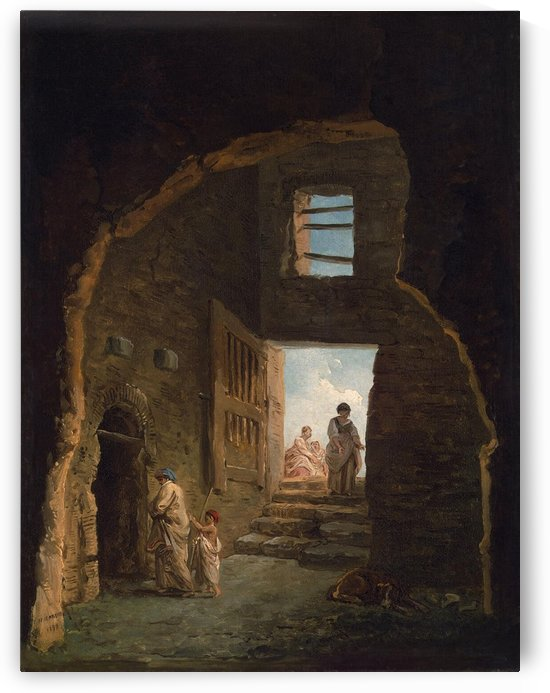 Inhabited Ruins by Hubert Robert