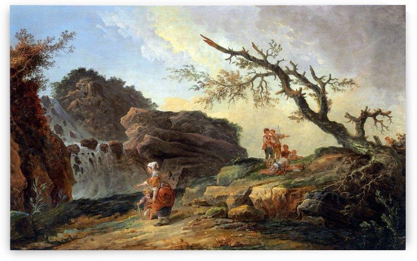 La Cascade by Hubert Robert