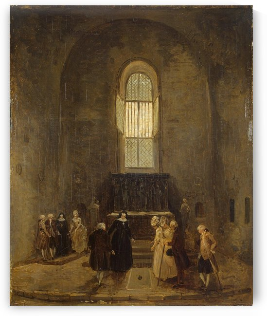 Examining an Old Church by Hubert Robert