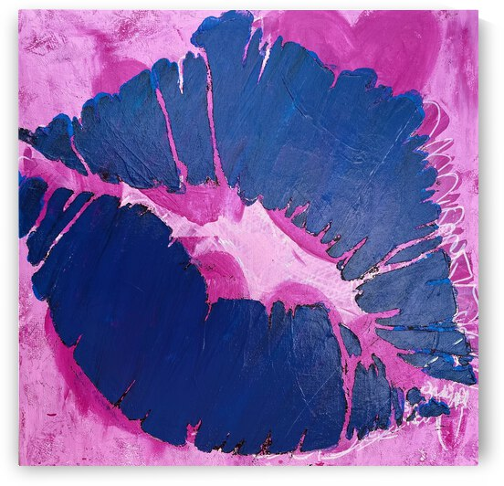 **ACRYLIC PAINTING** - Pink Lips by Lisa Shavelson