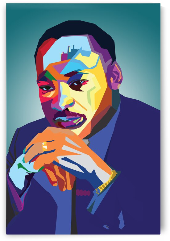 Martin Luther King  Jr. blue by PDART