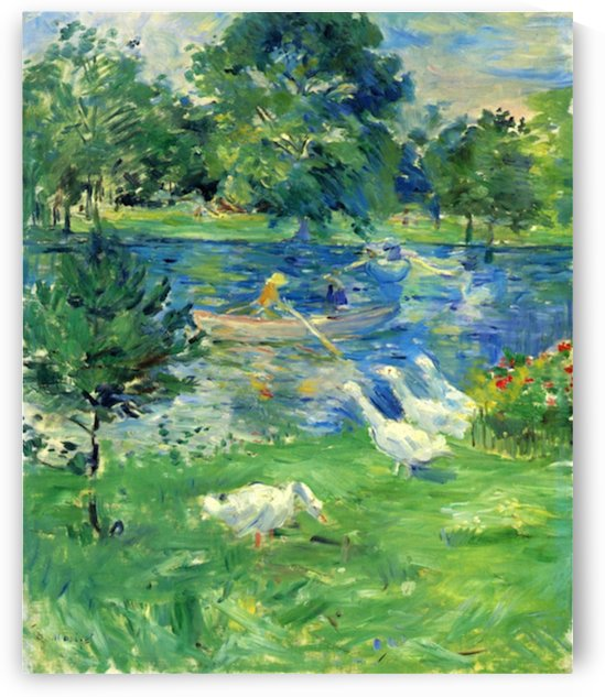View of Bois de Boulogne by Morisot by Morisot