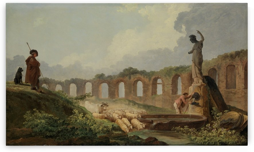 Aqueduct in Ruins by Hubert Robert