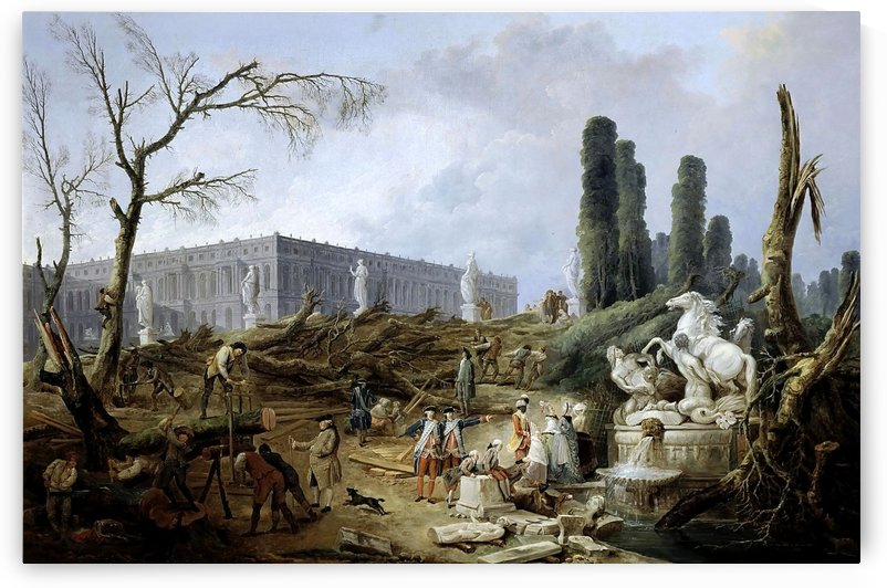 Fountain of Apollo gardens of Versailles - 1774 by Hubert Robert