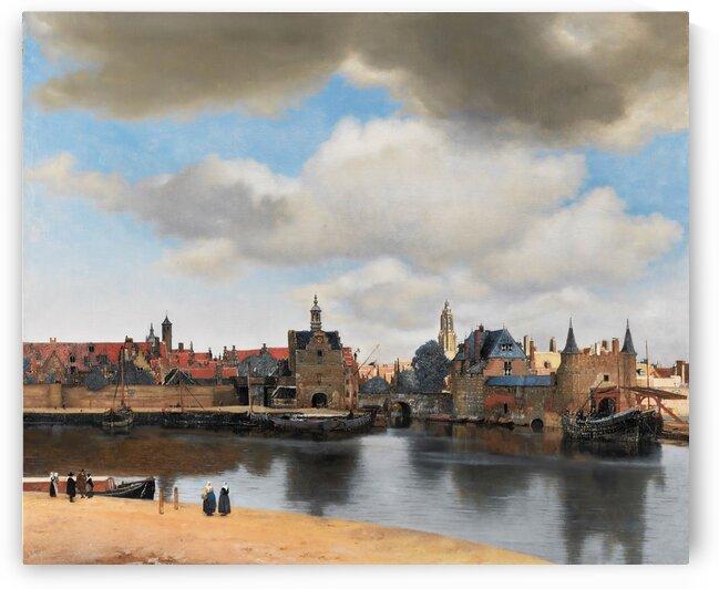 View of Delft by Vermeer by Vermeer