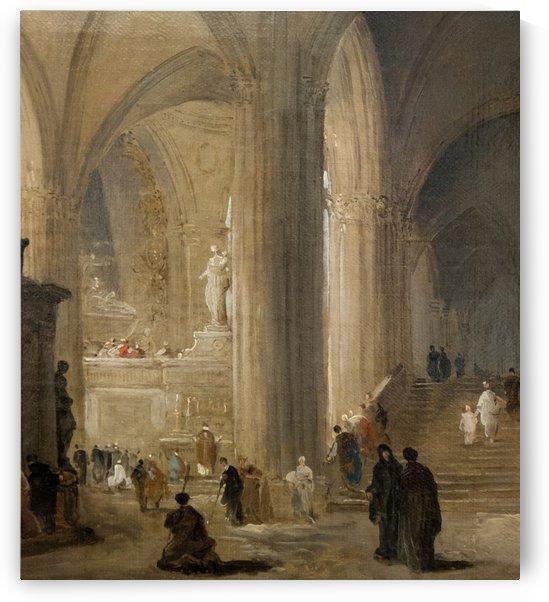 Inside the Saint-Denis Church by Hubert Robert