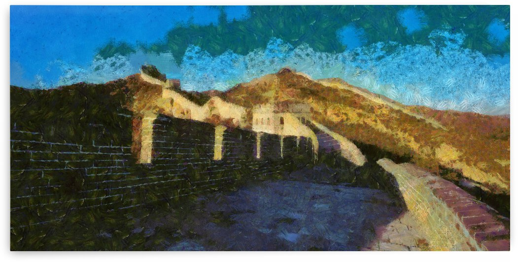 CHINA GREAT WALL OIL PAINTING IN OSCAR-CLAUDE MONET STYLE. 2. by ArtEastWest