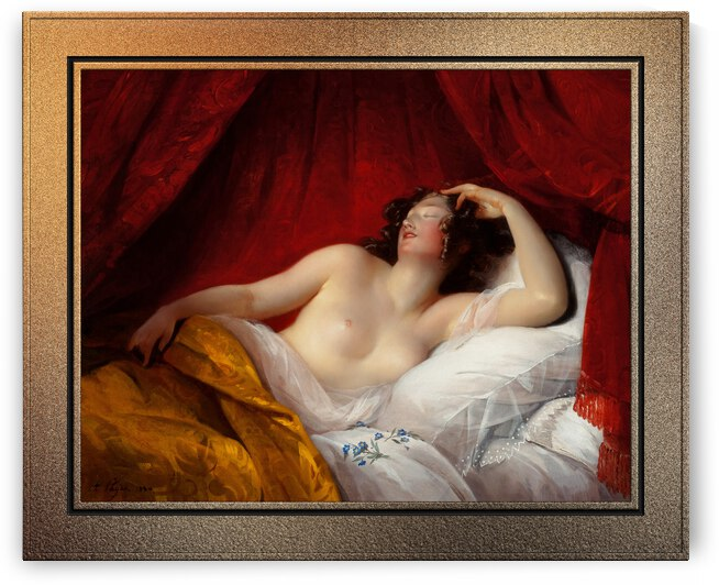 Le Sommeil by Aimee Pages-Brune Classical Fine Art Xzendor7 Old Masters Reproductions by xzendor7
