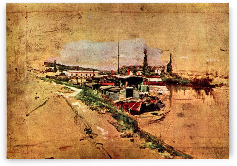 The Seine at Bougival by Giovanni Boldini by Giovanni Boldini