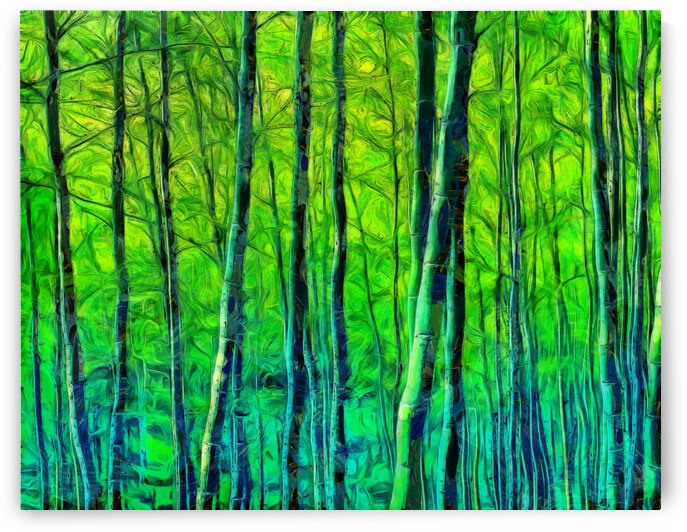 Bamboo forest oil painting inVincent Willem van Goghstyle. 1. by ArtEastWest