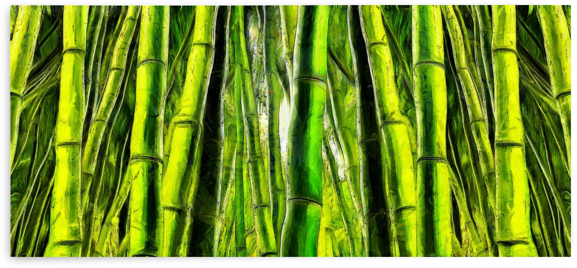 Bamboo forest oil painting inVincent Willem van Goghstyle.  2 by ArtEastWest