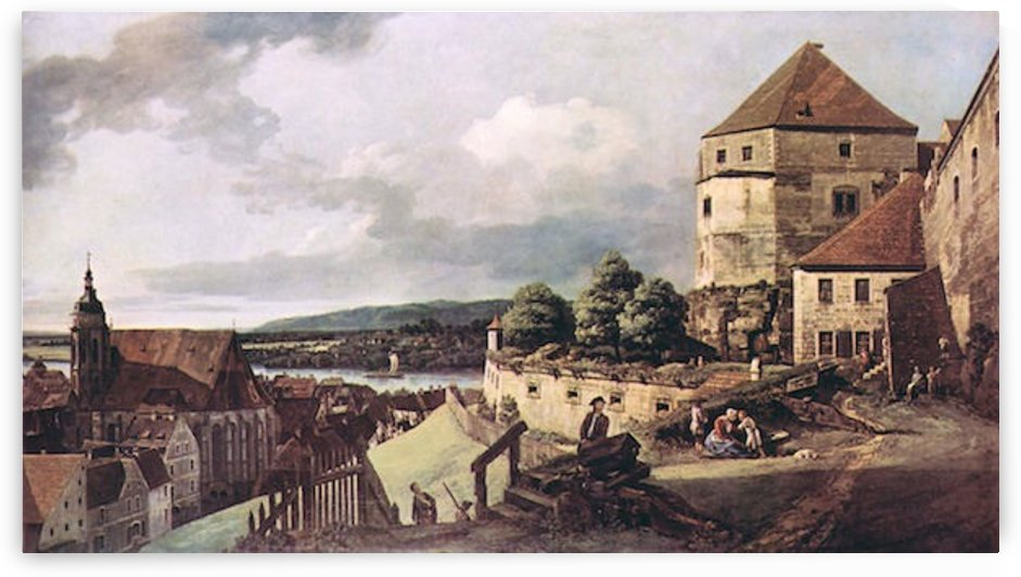 View of Pirna -2- by Canaletto by Canaletto