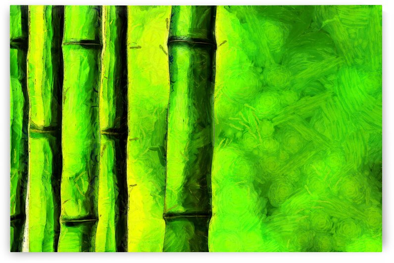 Bamboo forest oil painting inVincent Willem van Goghstyle. 4. by ArtEastWest