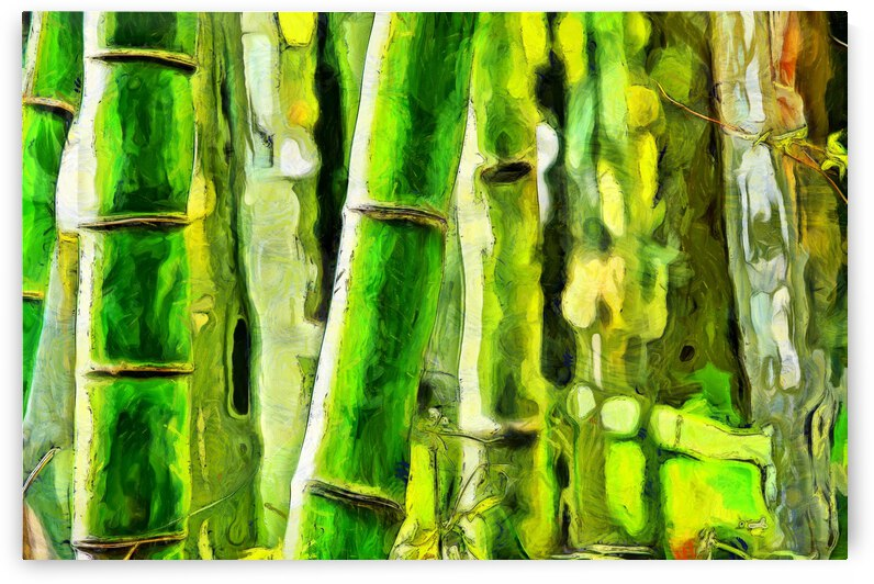 Bamboo forest oil painting inVincent Willem van Goghstyle. 7 by ArtEastWest