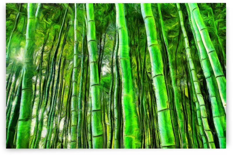 Bamboo forest oil painting inVincent Willem van Goghstyle. 6. by ArtEastWest