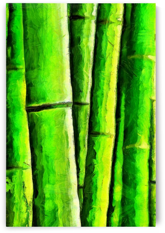 Bamboo forest oil painting inVincent Willem van Goghstyle. 26. by ArtEastWest