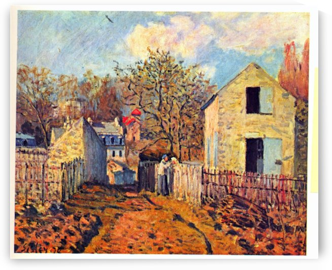 Village of Voisins (now part of Louveciennes) by Sisley by Sisley