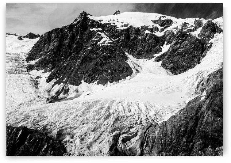 Franz Josef Glacial BnW by Timmy Keane