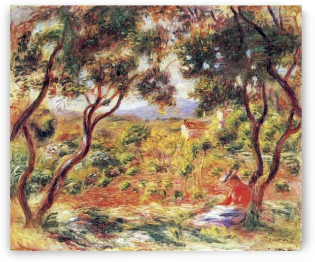 Vines at Cagnes by Renoir by Renoir