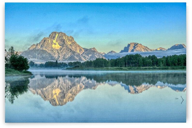 Snake River and Mt.Moran at dawn by David M Loss