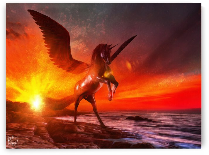 The Winged Unicorn by ChrisHarrisArt