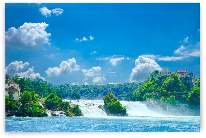 Beautiful Day at Rheinfall Switzerland 2 of 2 - Waterfall  by 24