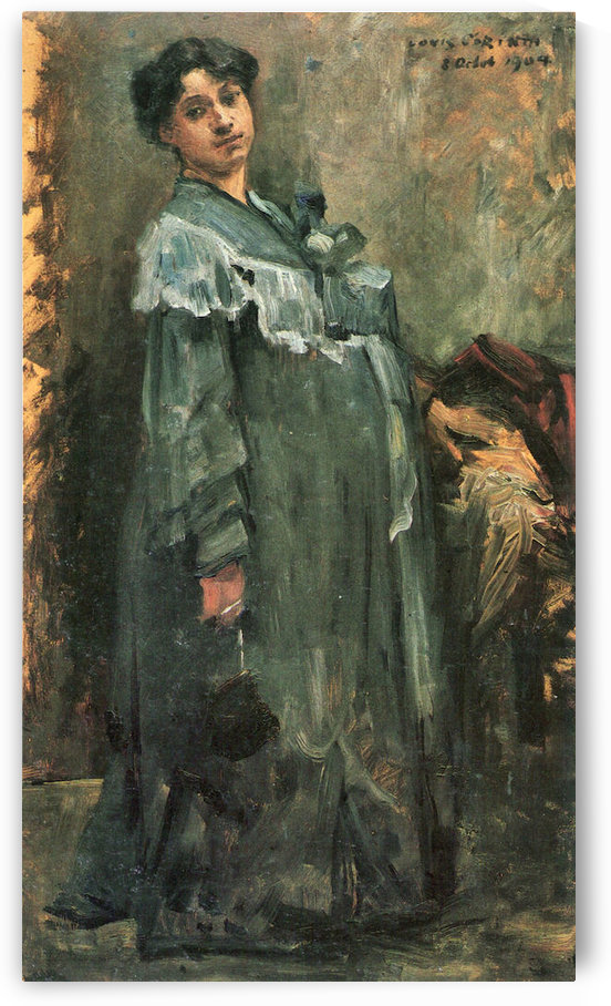 The silk coat by Lovis Corinth by Lovis Corinth
