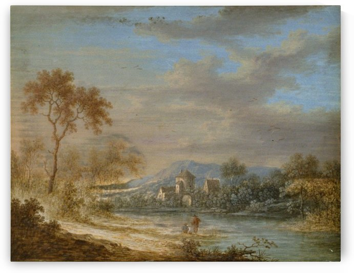 Landscape with Two Fishermen by Louis-Nicolas Van Blarenberghe