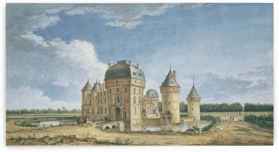 Chateau de la Ferte-Vidame by Henri Joseph van Blarenberghe