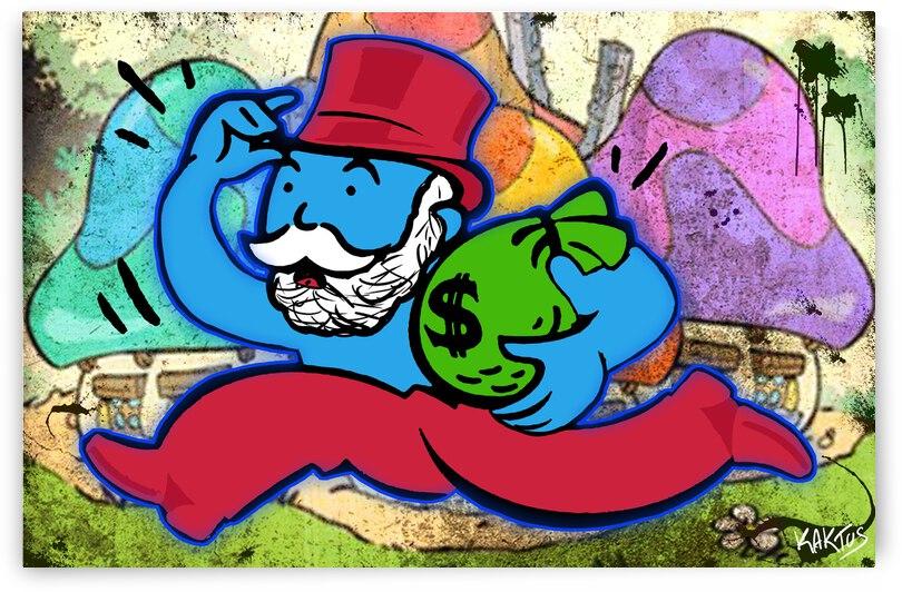Mr Monopoly Shtroumph by Kaktus Art