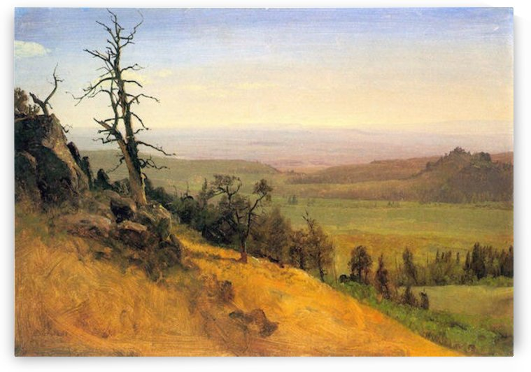 Wasatch Mountains Nebraska by Bierstadt by Bierstadt