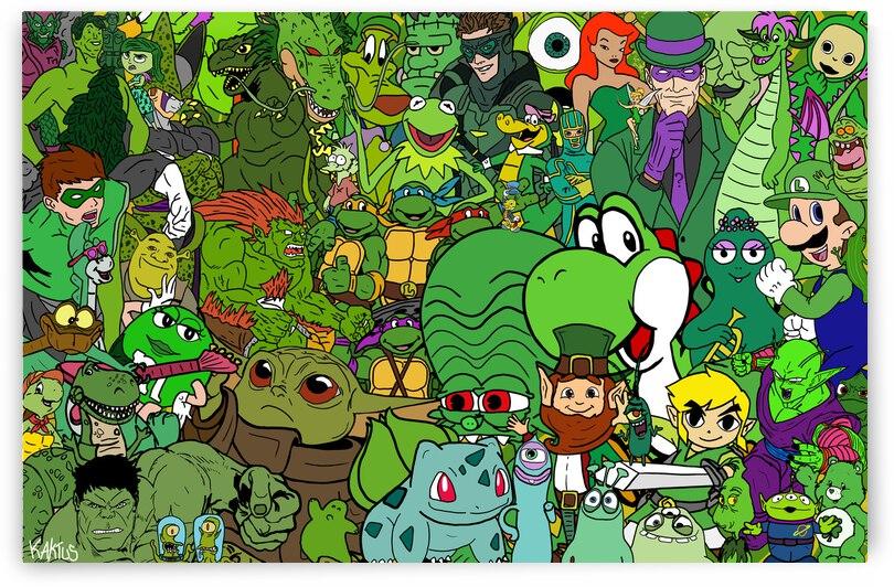 Rassemblement de Personnages  Vert by Kaktus Art