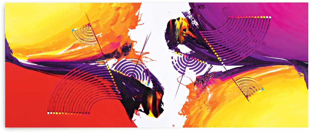 Abstract Art Britto - QB188 by SIDINEI BRITO