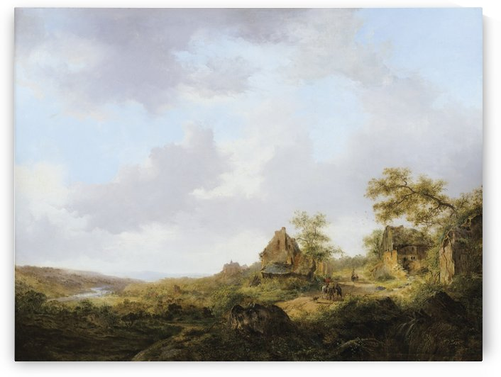 Ramblers On A Path by Frederik Marinus Kruseman