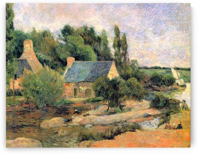 Washerwomen at Pont-Aven by Gauguin by Gauguin