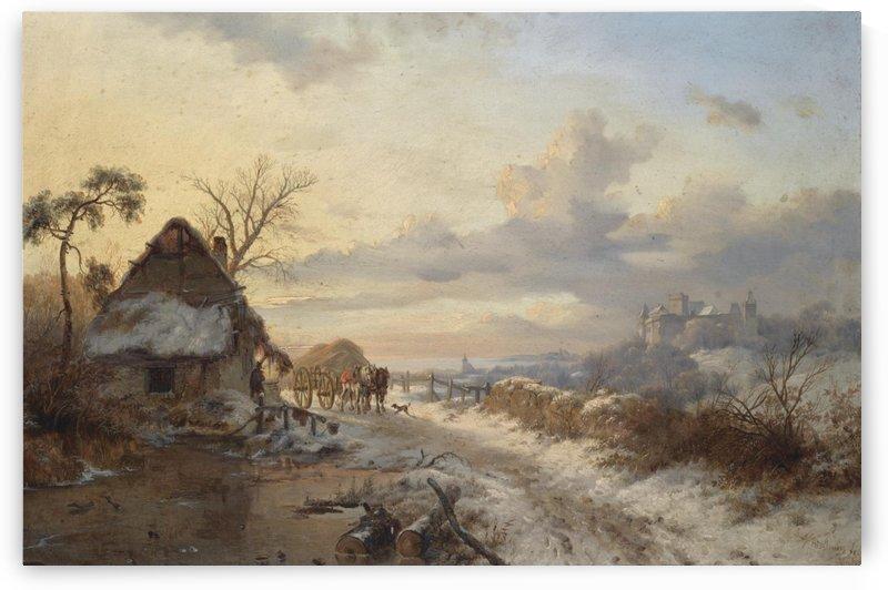 A Winter Day by Frederik Marinus Kruseman