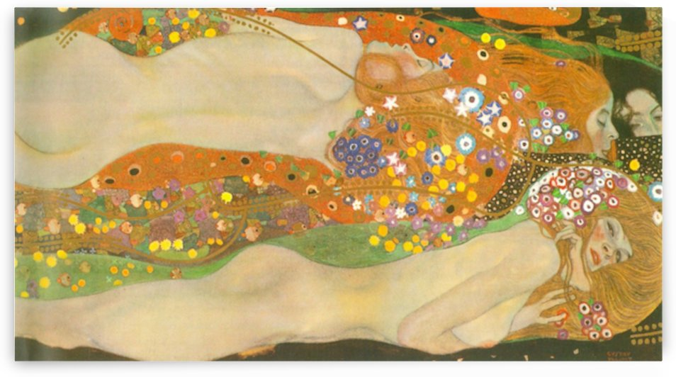 Water snakes (friends) II by Klimt by Klimt